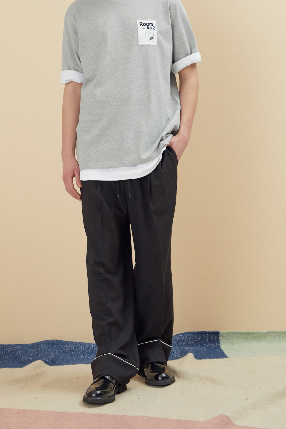PAJAMA WIDE PANTS BLACK
